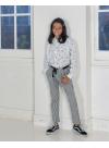 Pantalon Cléo rayé