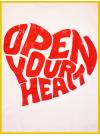 Tee shirt Open your Heart blanc