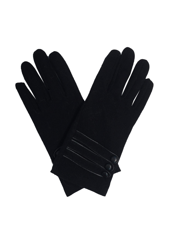 gants noirs détail boutons